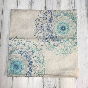 Aqua Blue Dual Mandala Pillowcase