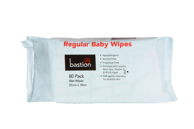 20 packets of Regular Baby Wipes (80 Wipes Per Pack)