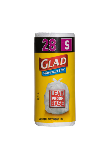 12 Rolls of Glad Wave Top Tie 28 Small Tidy Bags