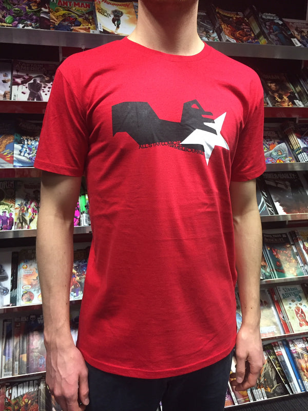 T-SHIRT HAND RED S
