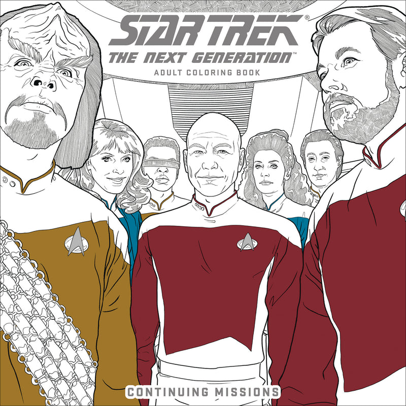 STAR TREK NEXT GEN ADULT COLORING BOOK TP VOL 02 CONTINUING