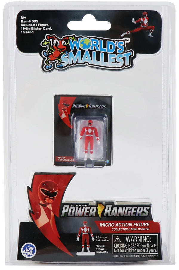 WORLD'S SMALLEST MMPR RED