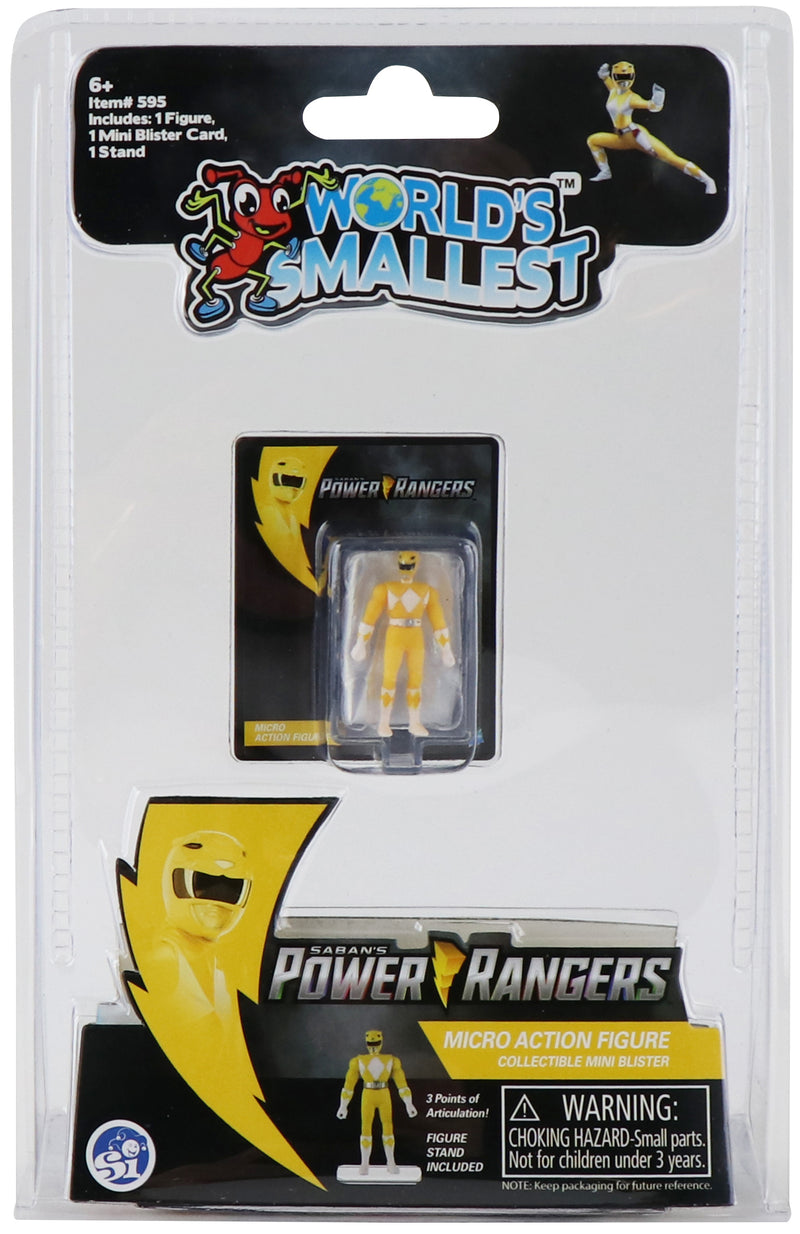 WORLDS SMALLEST MMPR YELLOW
