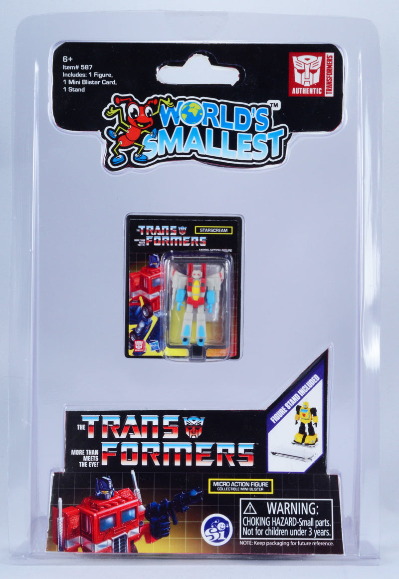WORLDS SMALLEST TRANSFORMERS FIGURE STARSCREAM