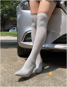 Crystal Over Knee Boots