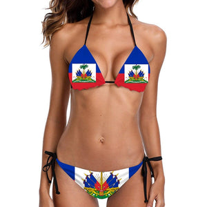 Two-Pieces Assorted Flag Swimsuits