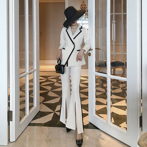 2 Pc flared Pants Suit