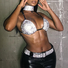 Load image into Gallery viewer, 3 Piece Bra, Choker, & Belt Sets