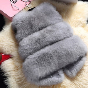 Autumn / Winter Faux Fox Fur Vest
