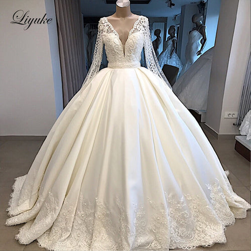 Ivory A Line Wedding Dress