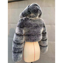 Load image into Gallery viewer, Cropped Faux Fur Coats