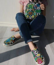 Load image into Gallery viewer, Snake Printed Shoes And Bags