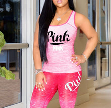 Load image into Gallery viewer, 2 pc Pink Athletic Sets