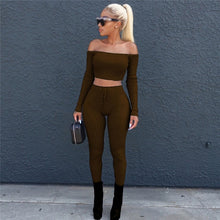Load image into Gallery viewer, 2 pc Crop Top Pants Set