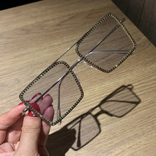 Load image into Gallery viewer, Transparent square sunglasses