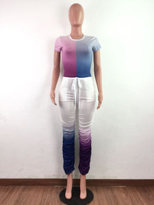 2 Pc Color block Pant Set