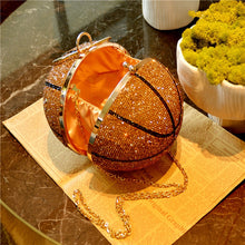 Load image into Gallery viewer, Rhinestone Basketball/Soccer Clutch