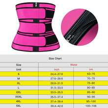Load image into Gallery viewer, Waist Trainer Body Shaper Belts