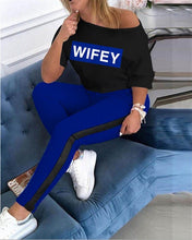 Load image into Gallery viewer, 2 pc wifey tracksuits