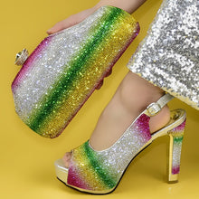 Load image into Gallery viewer, Rainbow Crystal Shoe and Matching Bag