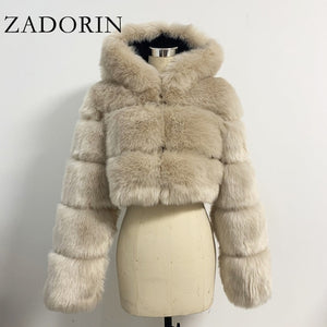 Cropped Faux Fur Coats
