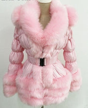 Load image into Gallery viewer, Detachable Duck Down Jacket W/ Faux Fur Collar
