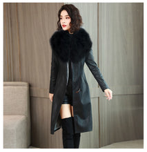 Load image into Gallery viewer, Leather Jacket W/ Fur Collar