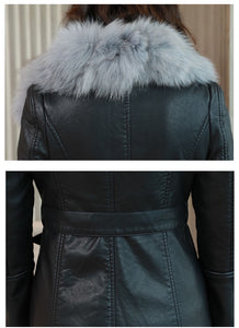 Leather Jacket W/ Fur Collar