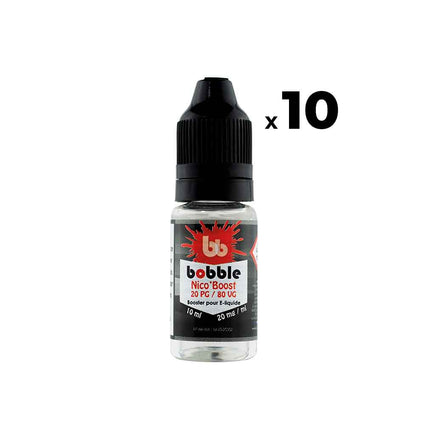 Pack Booster nicotiné - Bobble PG20 VG80 10ml