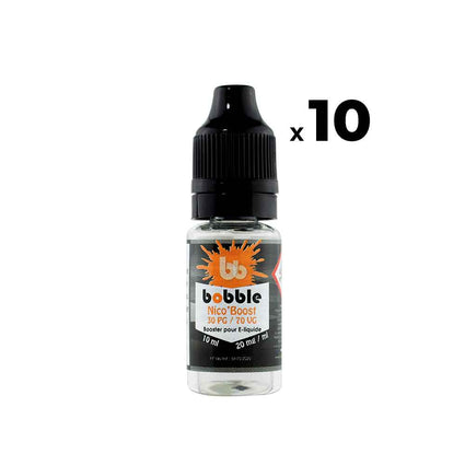 Pack Booster nicotiné - Bobble PG30 VG70 10ml