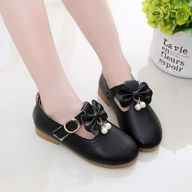 Girls Princess Shoes Cute Flat Shoes Loafers Bow Casual Shoes
