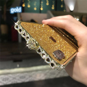 Color Heart Border Bling Phone Case