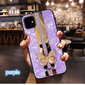 3D Mirror Inlaid butterfly Phone Case