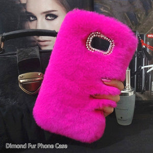 Fluffy Cute Warm Plush Phone Cases