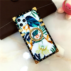 Fashion Retro Lips Flower Phone Case
