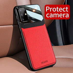 Business leather silicone phone case