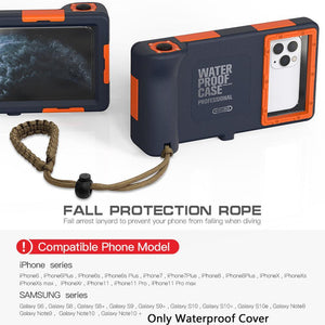 15m depth waterproof phone case