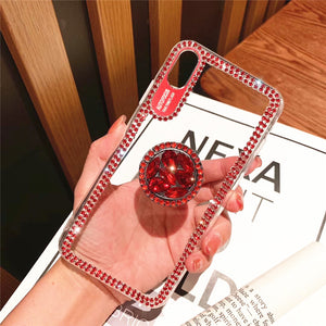 Bling Crystal Frame Transparent Phone Case