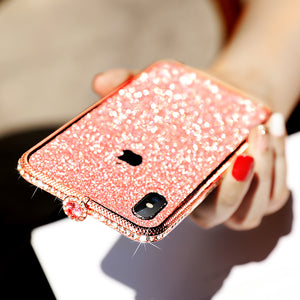 Gem Head Metal Frame  Phone Case