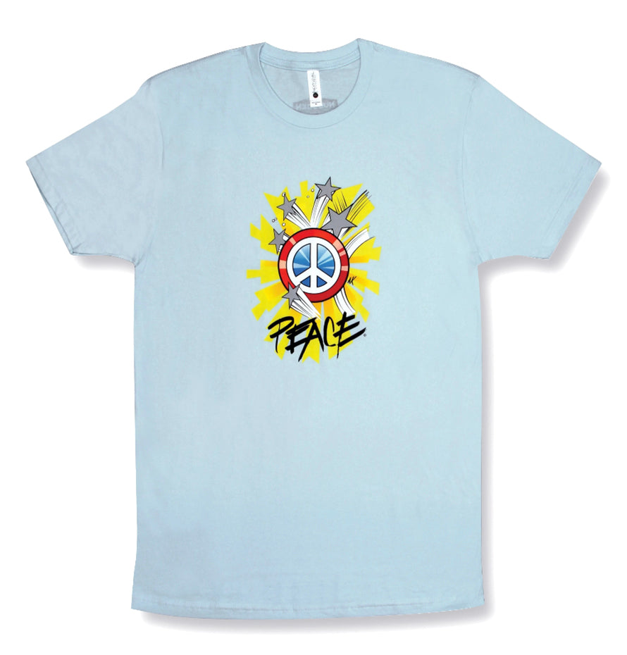 Positive Message Short Sleeve T-Shirt | 100% Cotton | Captain Peace
