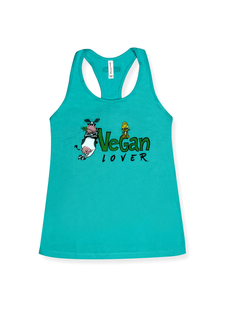 Vegan Racerback Tank Tops for Women's Workout | 100% Cotton | Vegan Lover