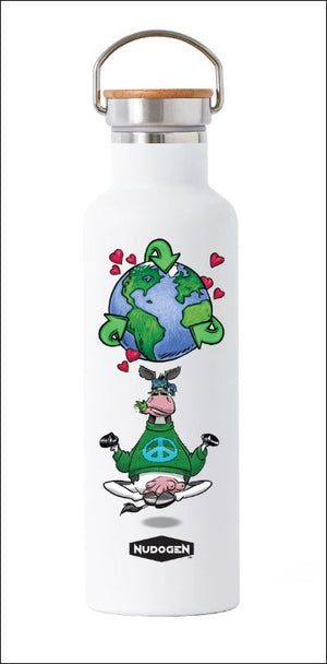 Stainless Steel Water Bottle | Yoga Hippie Cow Loves Recycling for the good of the Earth