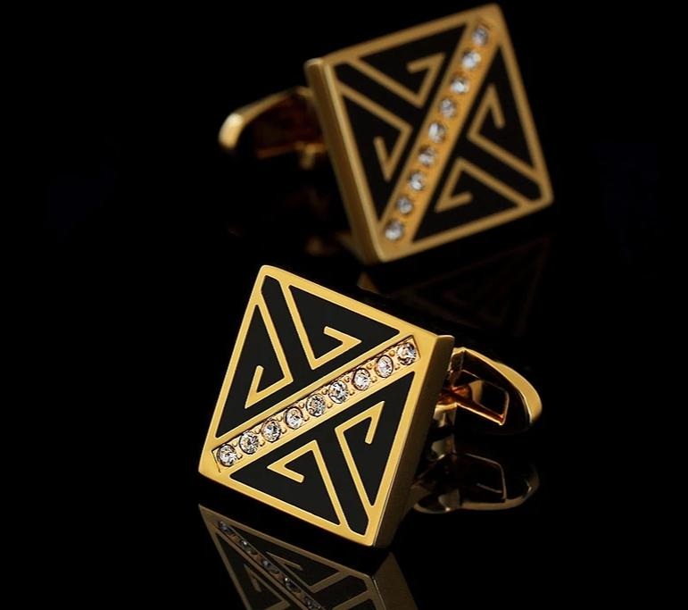 The VIP Luxury Black & Gold Cufflinks
