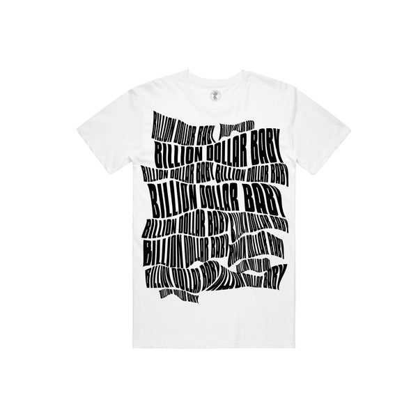 BDB Logo Black T-shirt - White