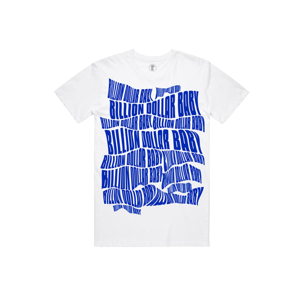 BDB Logo Blue T-shirt - White