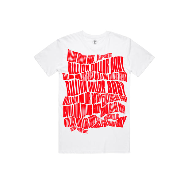 BDB Logo Red T-shirt - White