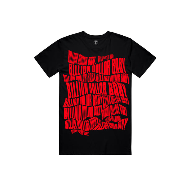 BDB Logo Red T-shirt - Black