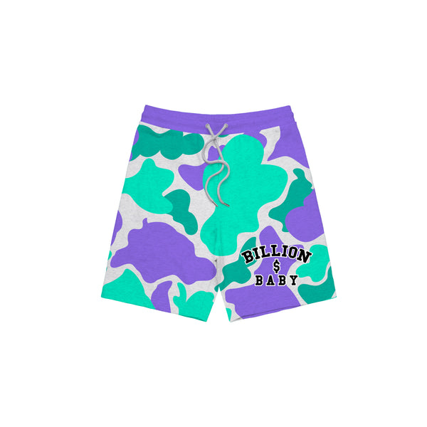 Grape Camo Shorts - Grape