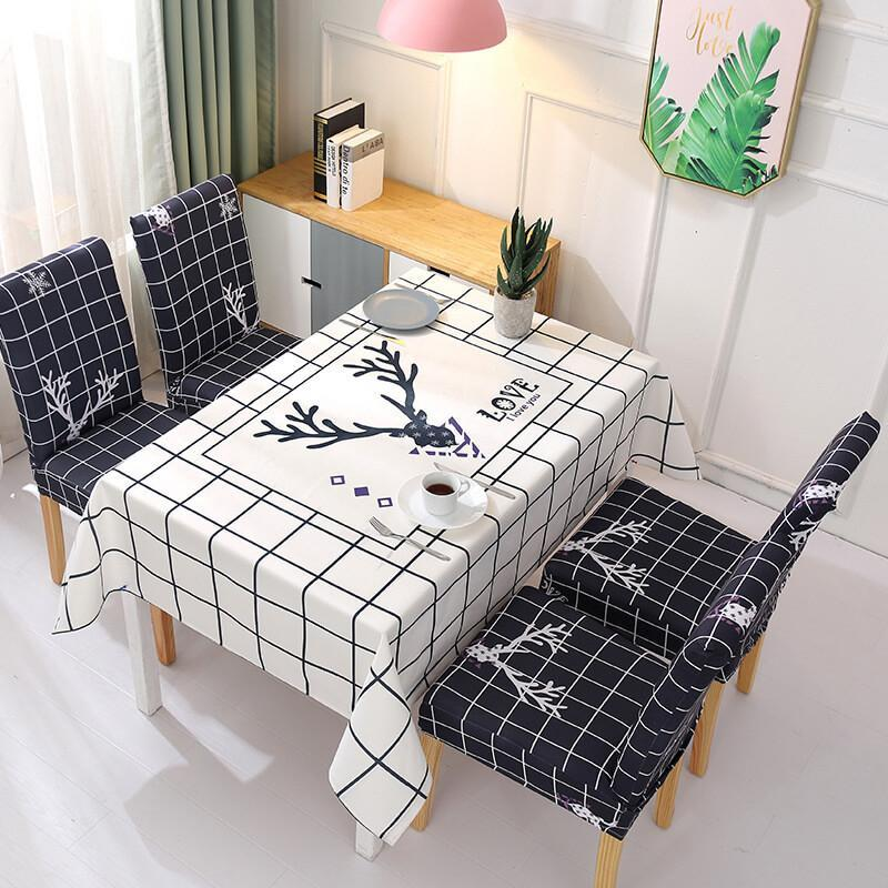 Rectangle Removable Washable Dinner Chair Covers And Tablecloth Sets