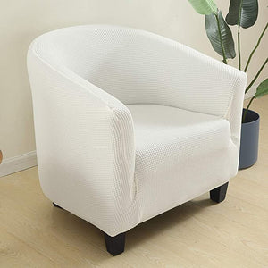 High Stretch 1-Piece Jacquard Club Chair Cover for Living Room